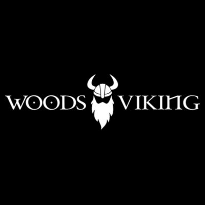 WOODS LOGO VIKING - PREMIUM SNAPBACK HAT - BLACK Design