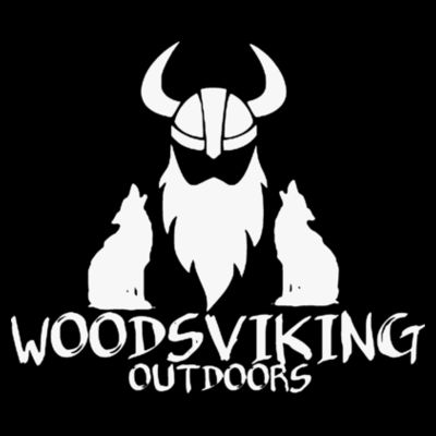 WOODSVIKING OUTDOORS - PREMIUM PULLOVER HOODIE - BLACK Design