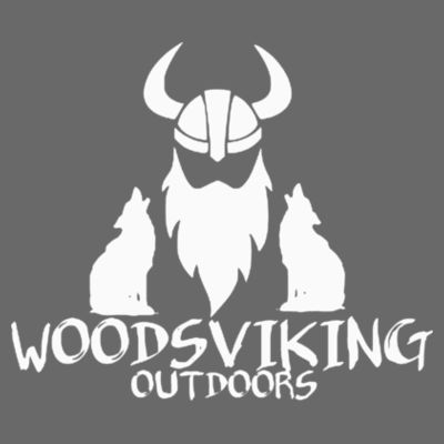 WOODSVIKING OUTDOORS - S/S PREMIUM TEE - CHARCOAL GRAY HEATHER Design