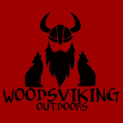 WOODSVIKING OUTDOORS - S/S PREMIUM TEE - CARDINAL Design