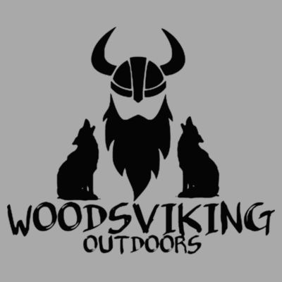 WOODSVIKING OUTDOORS - S/S PREMIUM TEE - LIGHT GRAY HEATHER Design