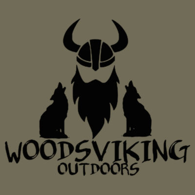 WOODSVIKING OUTDOORS - S/S PREMIUM TEE - MILITARY GREEN Design