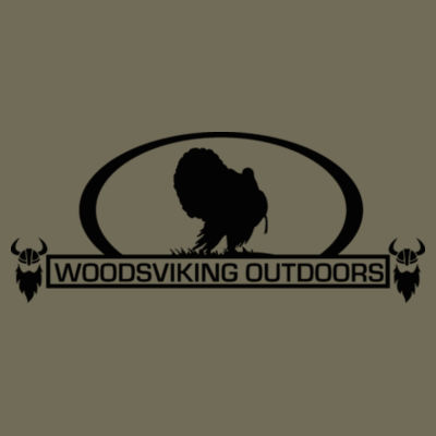 WOODSVIKING OUTDOORS TURKEY - S/S PREMIUM TEE - MILITARY GREEN Design