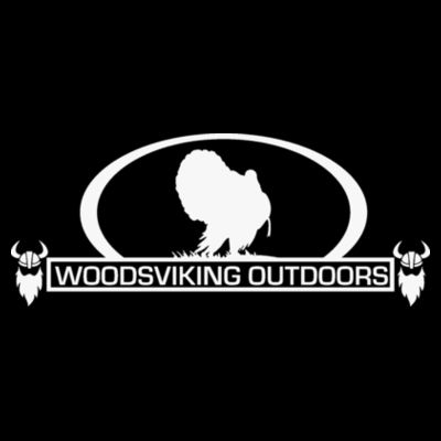 WOODSVIKING OUTDOORS TURKEY - PREMIUM PULLOVER HOODIE - BLACK Design
