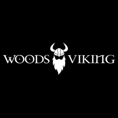 WOODS LOGO VIKING - S/S PREMIUM TEE - BLACK Design