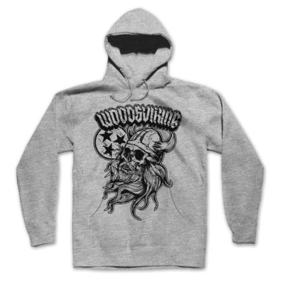 WELCOME TO VALHALLA - PREMIUM PULLOVER HOODIE - LIGHT GRAY HEATHER Thumbnail